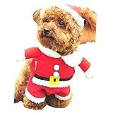 【 サイズ 選択可 】 犬 猫 用 クリスマス 服 サンタクロース コスプレ 衣装 ニット サンタ (XL)