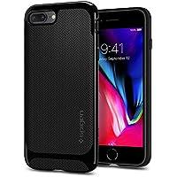 【Spigen】 スマホケース iPhone8 Plus ケース / iPhone7 Plus ケース 二重構造 バンパー 米軍MIL規格取得 耐衝撃 ネオ・ハイブリッド ヘリンボーン 055CS22230 (シャイニー・ブラック)