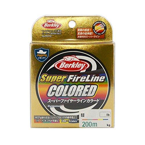 バークレイ(Berkley) PEライン  200m 3.0号/45lb 10m毎カラー スーパーファイヤー 釣り糸