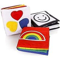 Itian 布絵本 知育玩具 赤ちゃんが豊かに反応する 赤ちゃん 幼児 子供 おもちゃ 3点セット さわって発見!