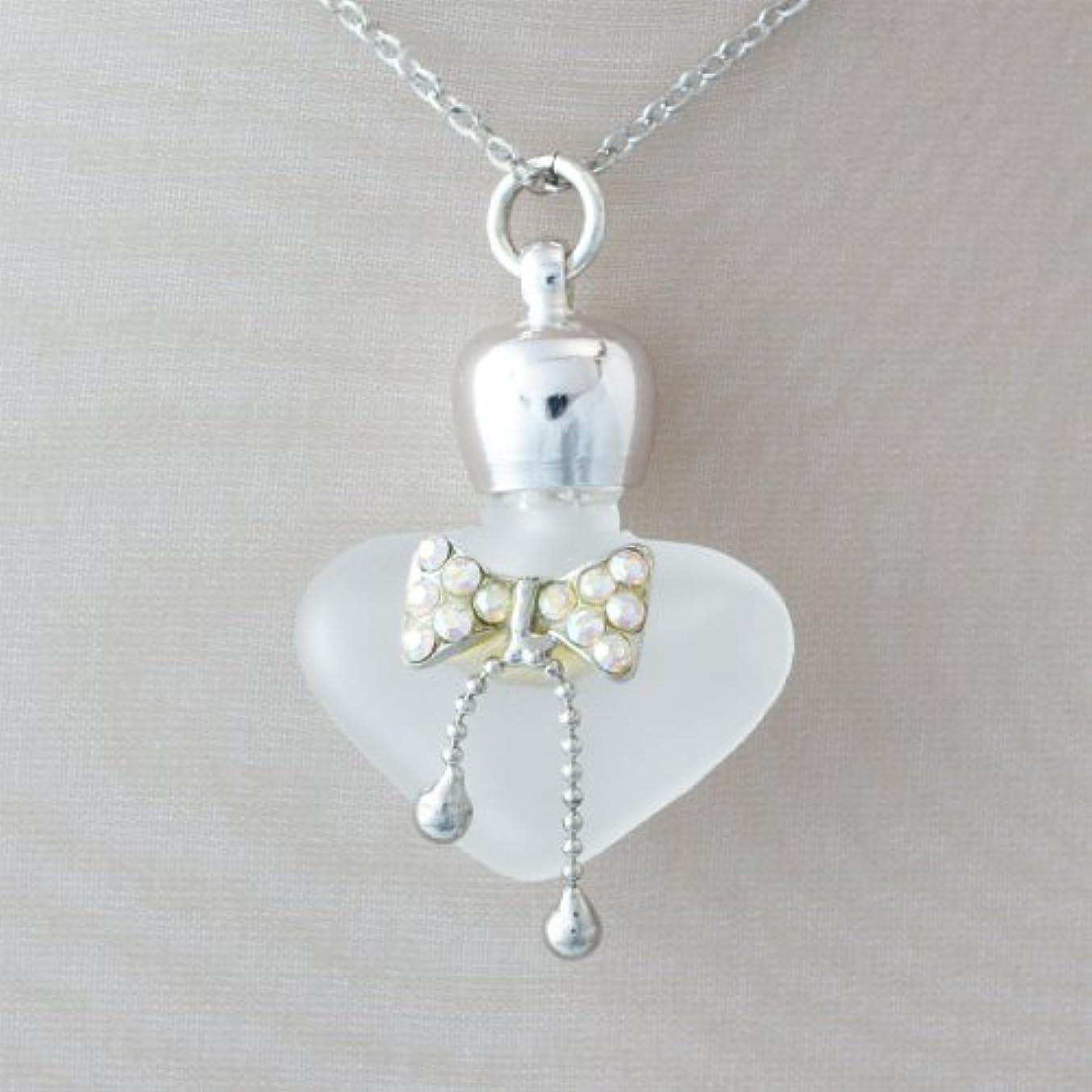 選ぶ保持主要な【天使の小瓶】 ハートリボン (白)