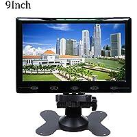 Haihuic 9インチ液晶モニターHD 800×480デジタルTFTカラースクリーン HDMI/VGA / AV入力車のPCモニタ 車のリアビュー、CCTV、ホームセキュリティ用 リモコン付き
