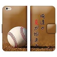 Galaxy S10プラス SCV42 ケース 手帳型 ストラップホール付 野球 ボール 硬式 夏 甲子園 L006104_04