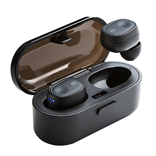 サンワサプライ 完全ワイヤレスイヤホン((Bluetooth4.1・True Wireless・充電ケース)MM-BTTWS001BK