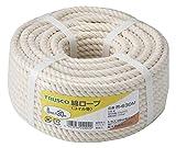 TRUSCO 綿ロープ 白 6mm×30m 3つ打タイプ R630M ¥ 1,673