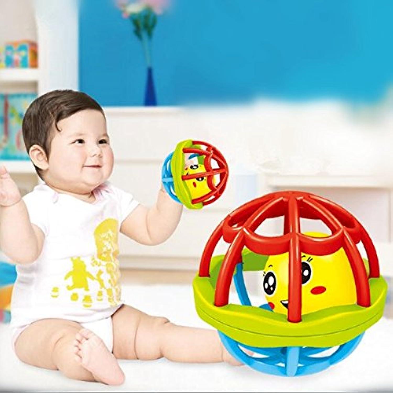 エレガントで美しい幼児用ラトルボール 歯固め 握りやすい アクティビティ おもちゃ 曲げるボールホール