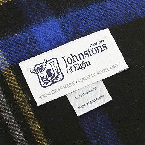 [ジョンストンズ]カシミア マフラー Johnstons WA000057 CASHMERE NEW SIZE TARTAN SCARF 190×35cm カシミア100% レディース ストール チェック DRESS GORDON(KU0312) [並行輸入品]