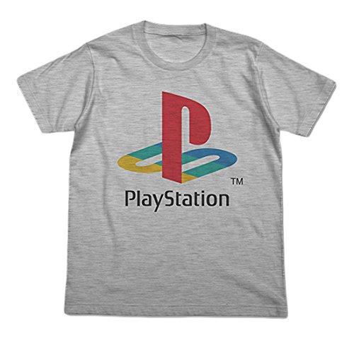 """プレイステーション 初代""""PlayStation"""" Tシャツ ヘザーグレー Mサイズの詳細を見る"""