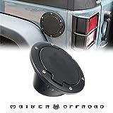 MAIKER 燃料タンクキャップに ジープラングラー 2ドアと4ド 適用するラングラー2007-2016 ジープJK系 ラングラーアンリミテッド ステンレス鋼 ブラック