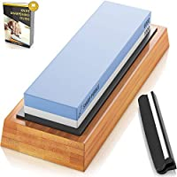 Sharp Pebble Premium Whetstone Knife Sharpening Stone 2 Side Grit 1000/6000 Waterstone | Best Whetstone Sharpener |...
