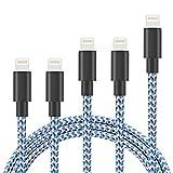 Besivaライトニングケーブル(5本セット1m+1m+1.8m+1.8m+3m)ナイロン編み設計高耐久ジュラルミン製コネクタ採用急速データ転送対応iPhoneX/iPhone8/8Plus/iPhone7/7Plus/6s/6sPlus/6/6Plus/5/5C/SE/iPad/iPod