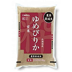 【Amazon.co.jp限定】ホクレン 北海道産 玄米 農薬節減米ゆめぴりか 5kg 平成29年産