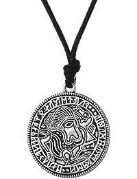 スウェーデンCoin Viking Medallion Amuletチベットペンダントネックレスヴィンテージスタイルジュエリー