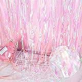 タッセルカーテン カーテン レインボー キラキラ 写真背景 結婚式 誕生日会 ウェディング イベント プロップス 1本1*2m