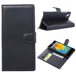 【 全7色 】 ZTE Blade vec 4G ( freetel LTE XM ) 専用ケース 手帳型 カバー カード収納 ブラック ( 黒 )