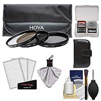 Hoya 55mm 3ピースデジタルフィルタセット(HMC UV、Circular Polarizer & nd8ニュートラル密度) &ケース+キットfor Sony DT 18–55mm, 75–300mm, 55–200mm, 35mm f/1.4g、50mm f/1.4& F/2.8、100mm f/2.8マクロレンズ