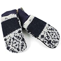 GREEN CLOTHING グリーンクロージング KNIT MITT NAVY/SNOW SIZE L