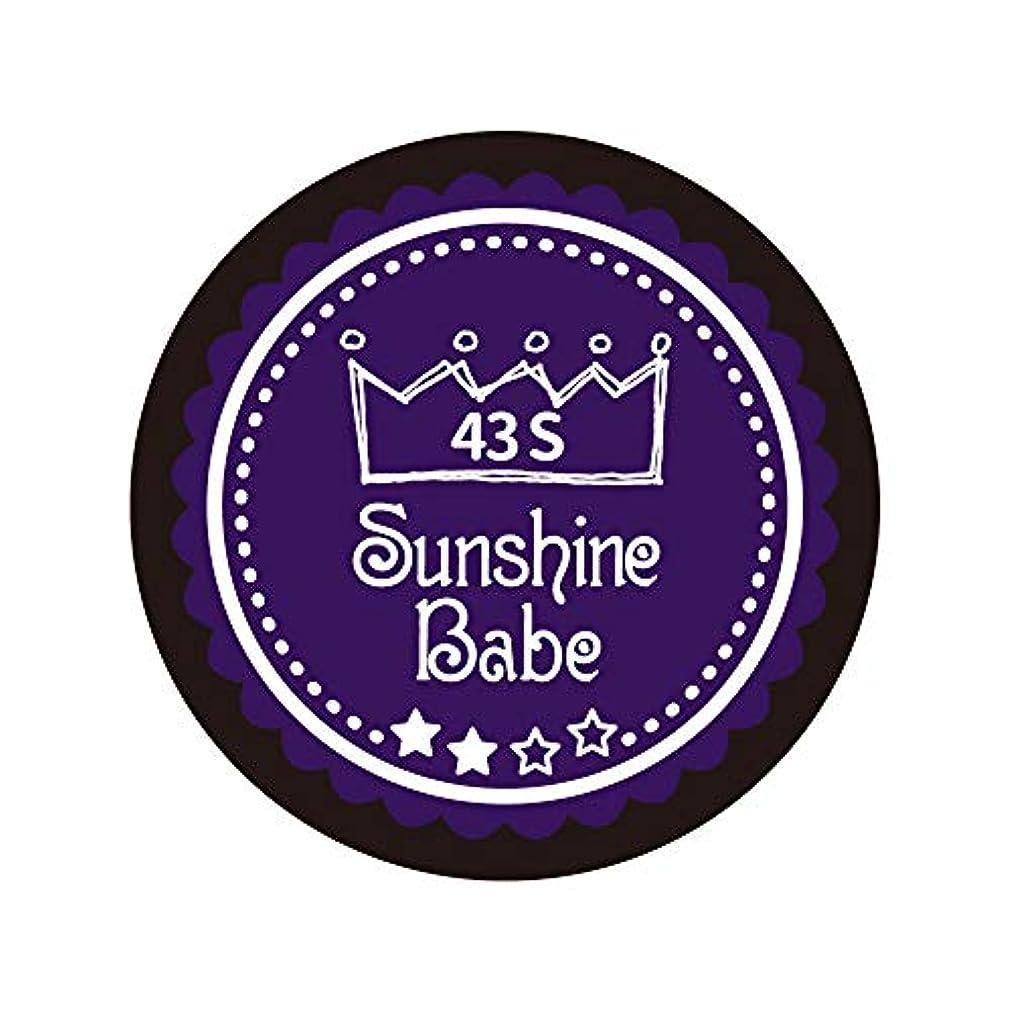 伝統的騒借りるSunshine Babe カラージェル 43S オータムウルトラバイオレット 4g UV/LED対応