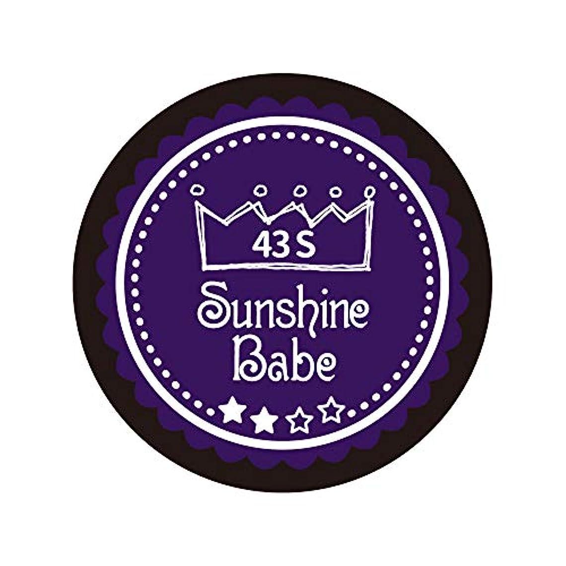 センチメートル尊敬偏心Sunshine Babe カラージェル 43S オータムウルトラバイオレット 4g UV/LED対応
