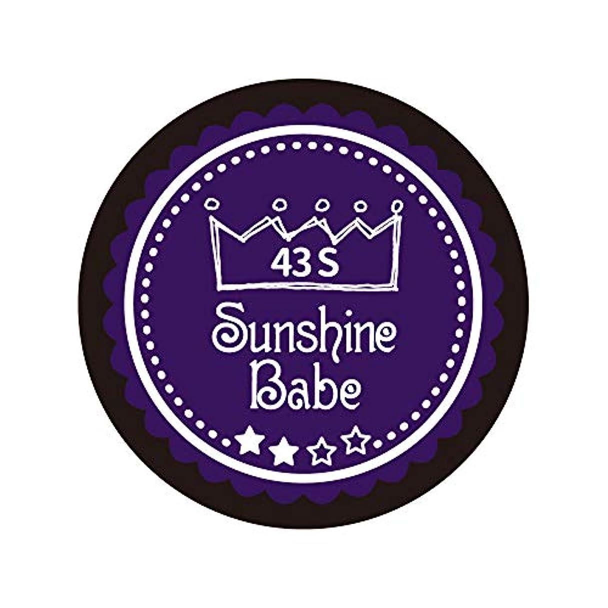 ルールに話すあいまいなSunshine Babe カラージェル 43S オータムウルトラバイオレット 4g UV/LED対応
