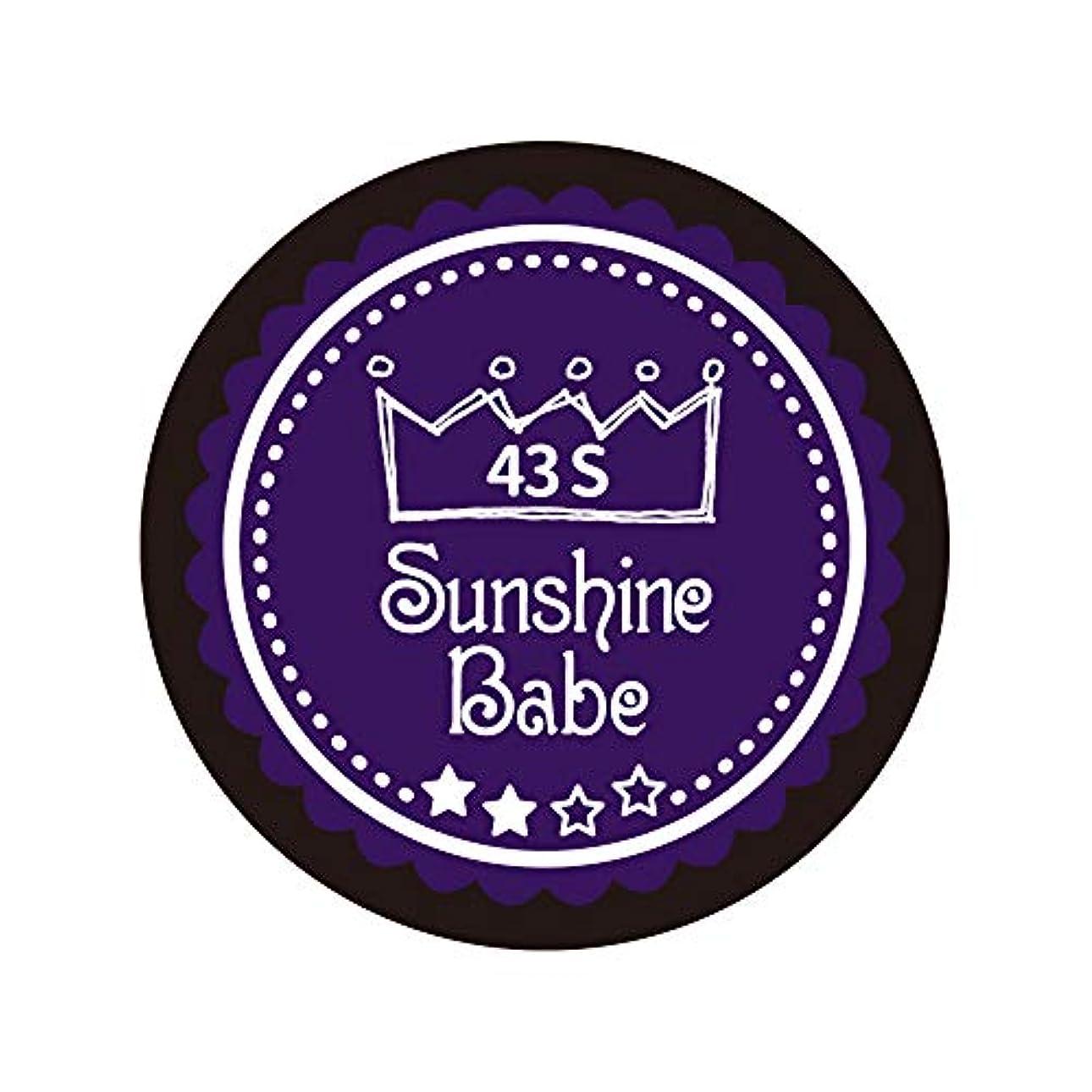 ランクラベル単にSunshine Babe カラージェル 43S オータムウルトラバイオレット 4g UV/LED対応