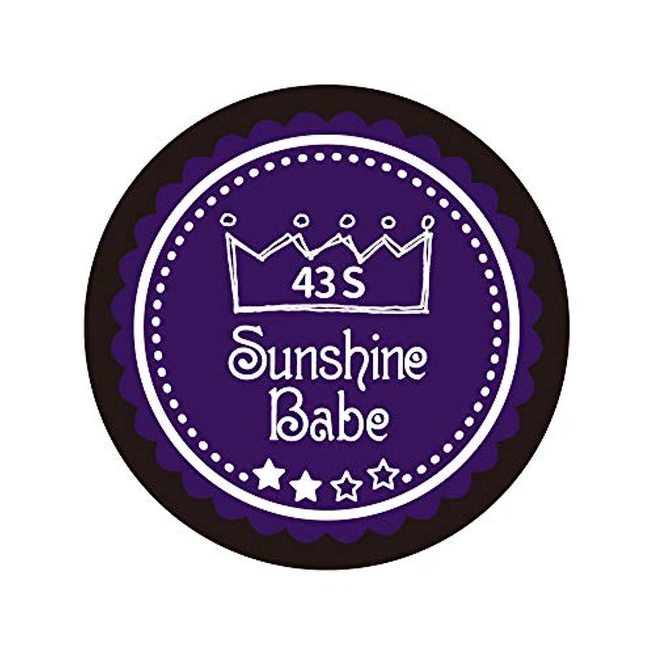 貴重なバーベキュー失敗Sunshine Babe カラージェル 43S オータムウルトラバイオレット 4g UV/LED対応