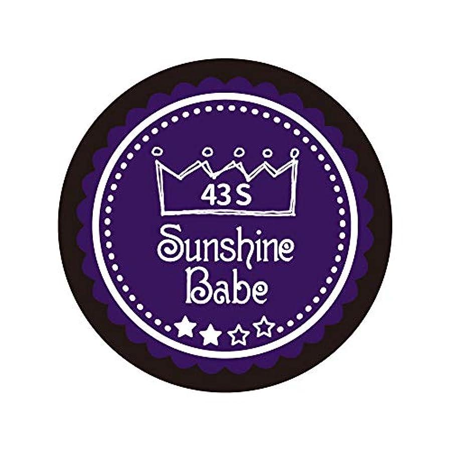 崇拝する風が強いチューブSunshine Babe カラージェル 43S オータムウルトラバイオレット 2.7g UV/LED対応