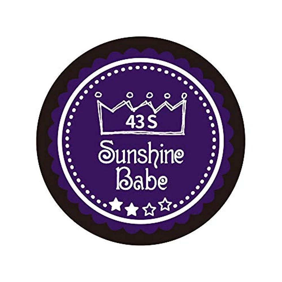 カメに沿って警報Sunshine Babe カラージェル 43S オータムウルトラバイオレット 2.7g UV/LED対応