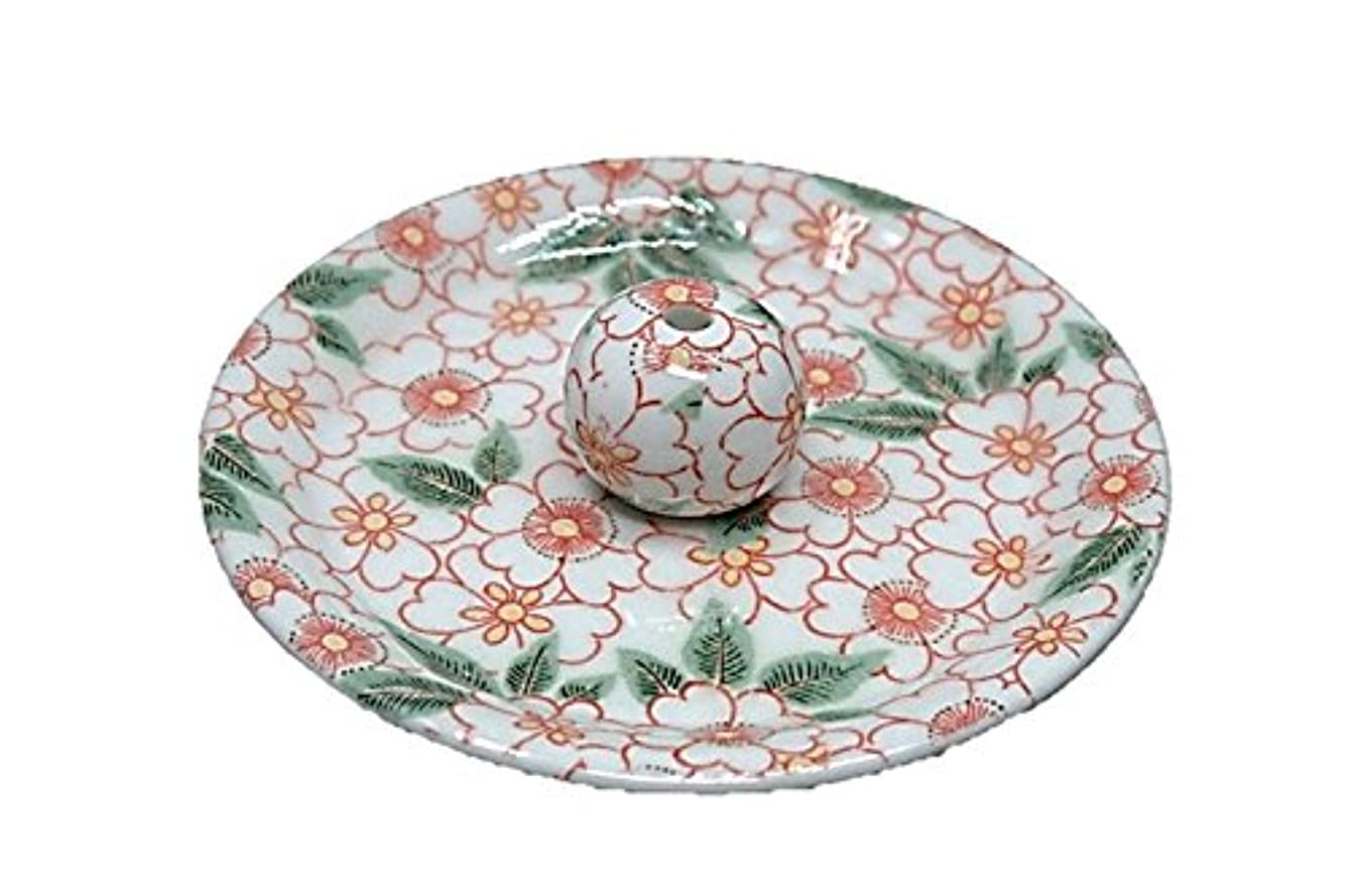 老人ラテン鎮痛剤9-32 朱華柳 9cm香皿 お香立て お香たて 陶器 日本製 製造?直売品