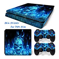 Hzjundasi 136# Body Sticker Decal Skin ステッカーデカールスキン For Playstation 4 PS4 Slim Console+Controllers