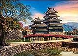 ジグソーパズル 夕日に佇む松本城(長野) 500ピース (38x53cm)