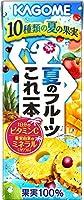 カゴメ 夏のフルーツこれ一本 200ml×24本入×4ケース 96本