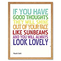 Good Thoughts Roald Dahl Art Print Framed Poster Wall Decor 12x16 inch 良いポスター壁デコ