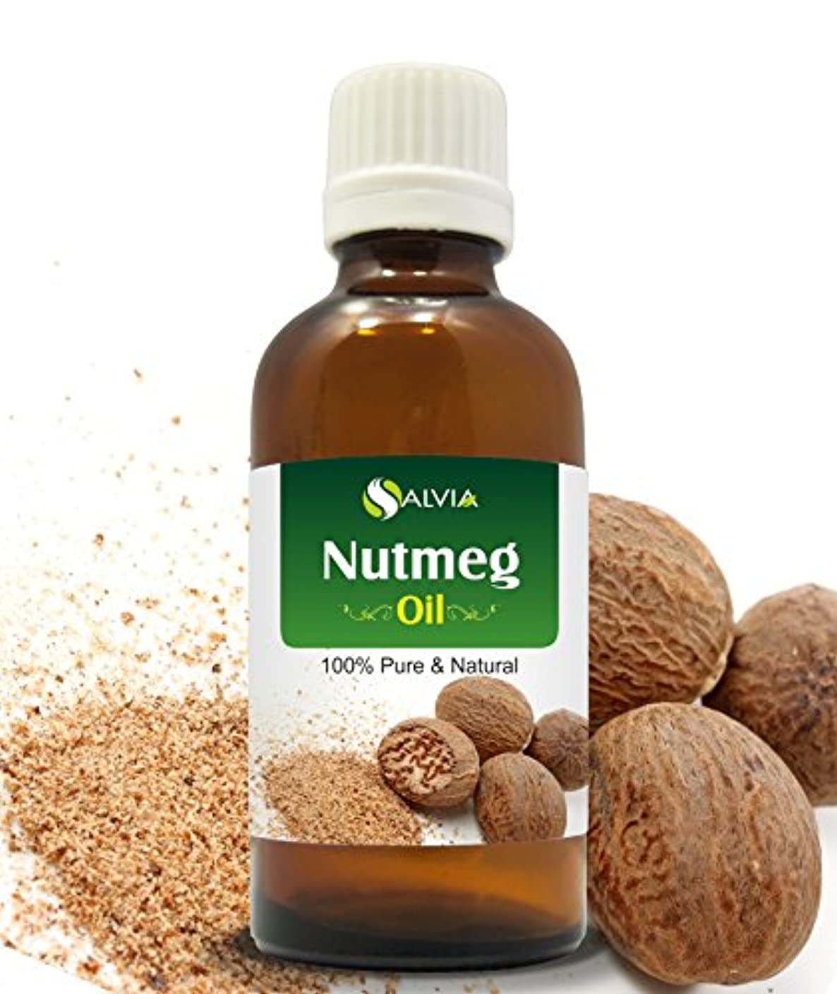 登場害虫流産NUTMEG OIL 100% NATURAL PURE UNDILUTED UNCUT ESSENTIAL OILS 30ml by SALVIA