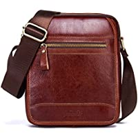 Contacts Mens Genuine Leather Crossbody Single-Shoulder Mini iPad Shoulder Tab Bag
