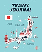 Travel Journal: Kid's Travel Journal. Map Of Japan. Simple, Fun Holiday Activity Diary And Scrapbook To Write, Draw And Stick-In. (Japan Map, Vacation Notebook, Adventure Log)