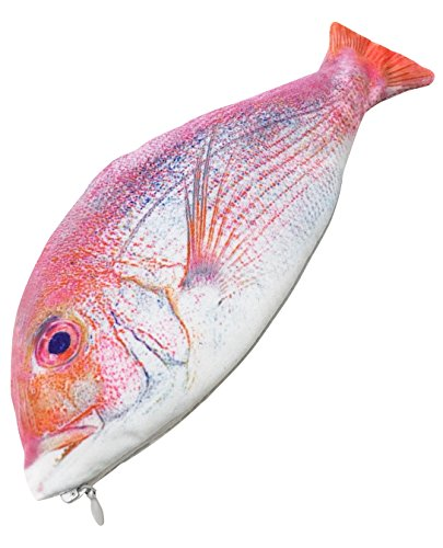 GJTr 魚 ペンケース 筆箱 化粧 ポーチ アクセサリー ケース 小物入れ お魚 さかな グッズ A