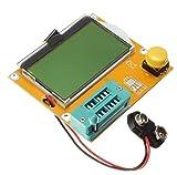 KKHMF LCR-T4 9V 128*64 LCD抵抗コンデンサー ダイオード SCR トランジスタ ESR メーター テスター
