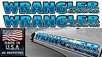 """ジープ–Wrangler–Pirate–4x 4Off Road–フードデカールステッカー–2ピースセット- 4""""h X 32""""w ブルー wrPir4x4or"""