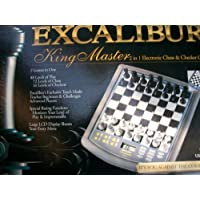 Excalibur King Master 2 in 1 Electronic Chess & Checker Game [並行輸入品]