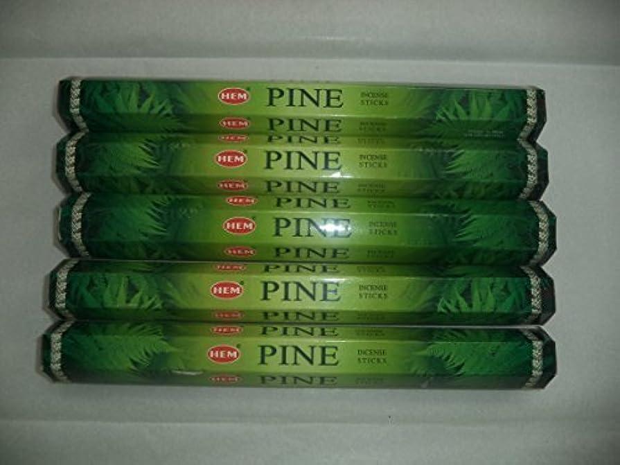 牽引不合格スクリューHEM Pine 100 Incense Sticks (5 x 20 stick packs) [並行輸入品]