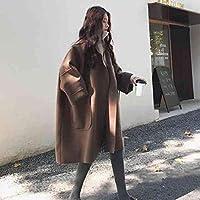 FlamingoAU Fashionable Woolen Jacket Female Long Large Size Warm Coat Winter Clothes Sweater Camel