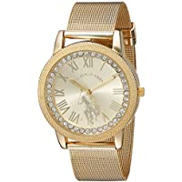 U.S. Polo Assn. Women's Analog-Quartz Watch with Alloy Strap, Gold, 18 (Model: USC40110