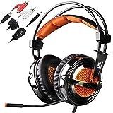 SADES 928 Professional Gaming Headphones Headset Over Ear Headband with High Sensitivity Microphone