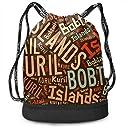 ジムサック Kuril Islands Bobtail Cat 千島列島の短尾の猫 ナップサック 巾着袋 巾着&バックパック 超軽量 バッグ 男女兼用 大容量 Black One Size