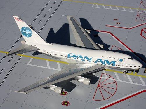 1: 200 ジェミニジェット Pan Am ボーイング 747SP Billboard Titles (並行輸入)