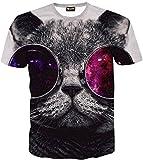 (ピゾフ) Pizoff 半袖Tシャツ メンズ 3Dプリント 面白い猫Tシャツ PIZOFF ネコ柄 メンズ ファッションY1625-30-M