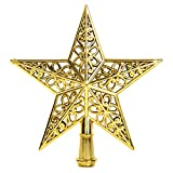 CRECER クリスマスツリー 星 の 飾り トップ スター オーナメント 素材 (ゴールド)