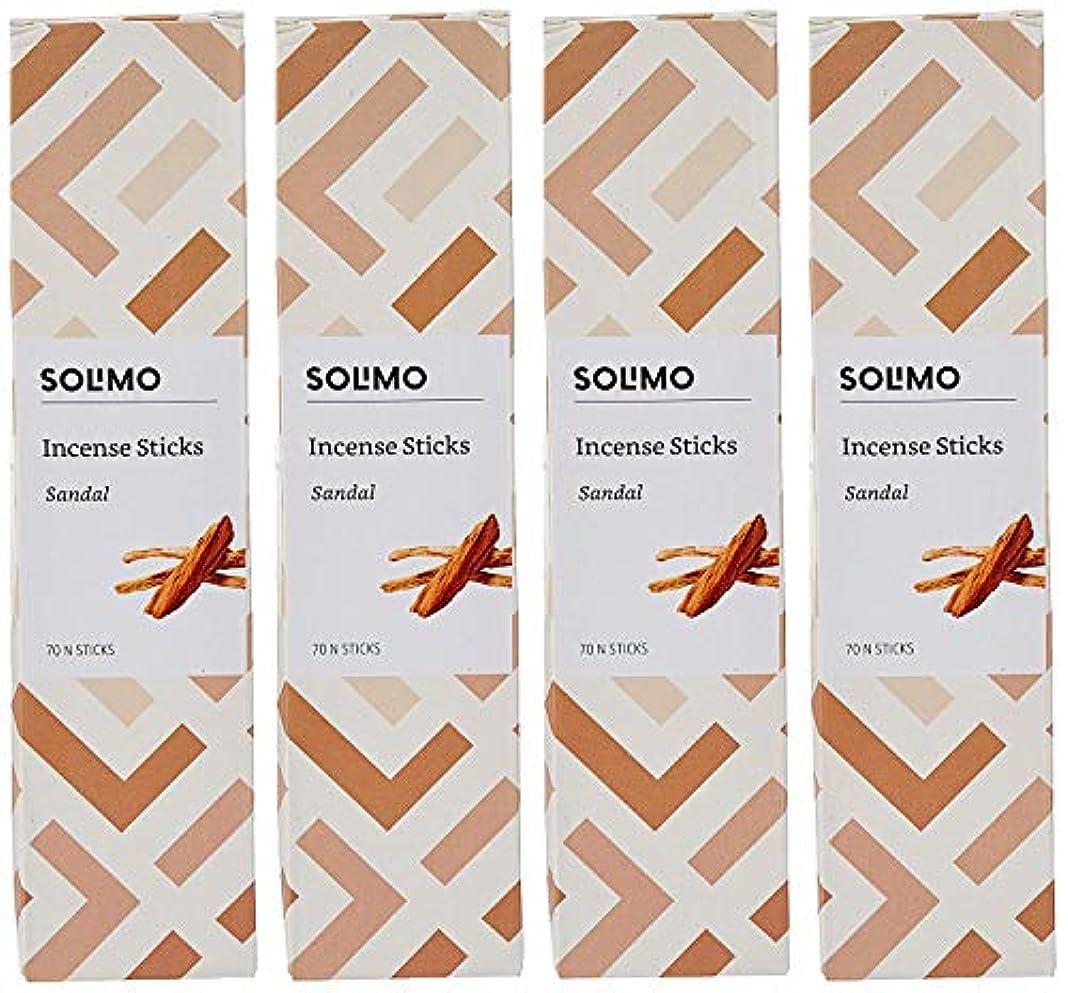 ホーム雄弁死の顎Amazon Brand - Solimo Incense Sticks, Sandal - 70 sticks/pack (Pack of 4)