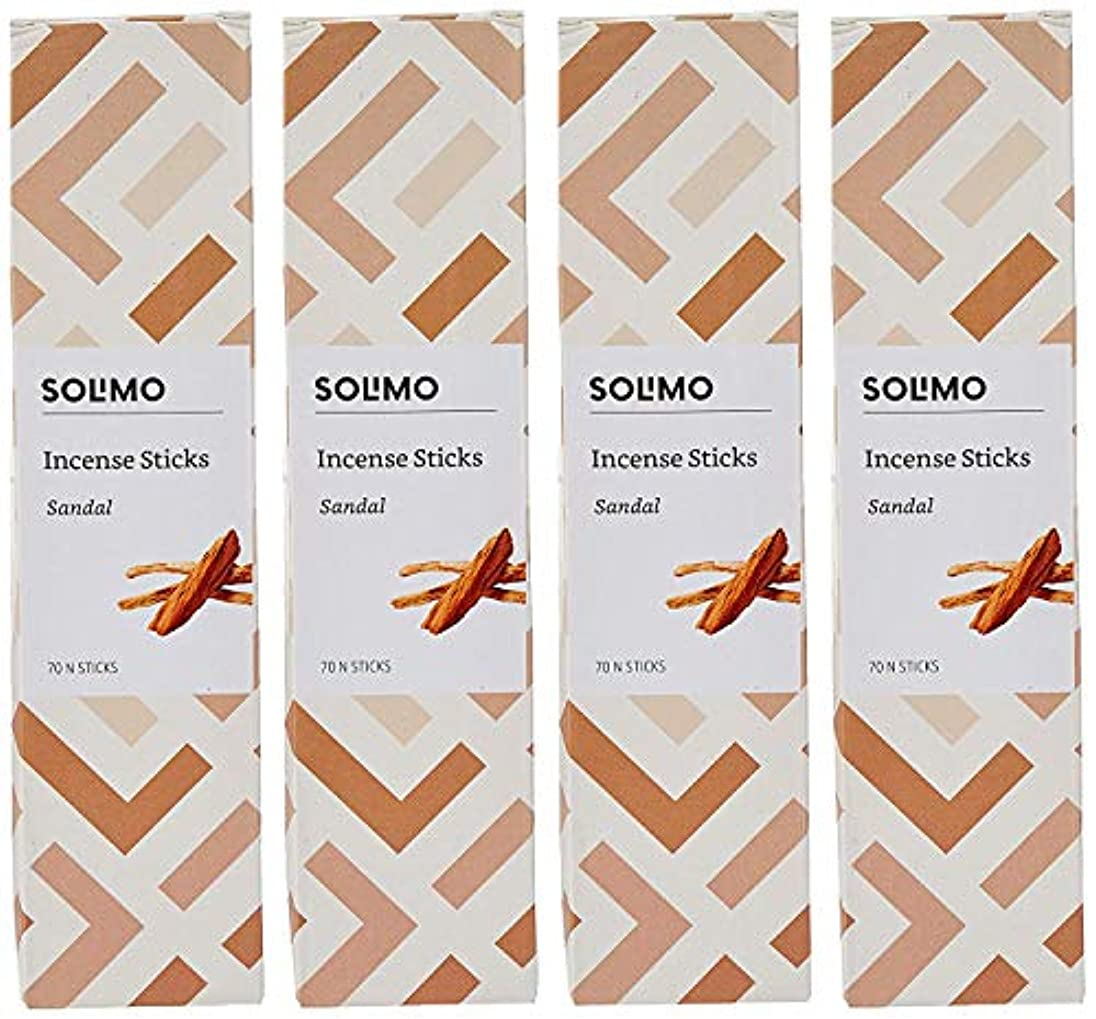 コミット分岐する会話Amazon Brand - Solimo Incense Sticks, Sandal - 70 sticks/pack (Pack of 4)